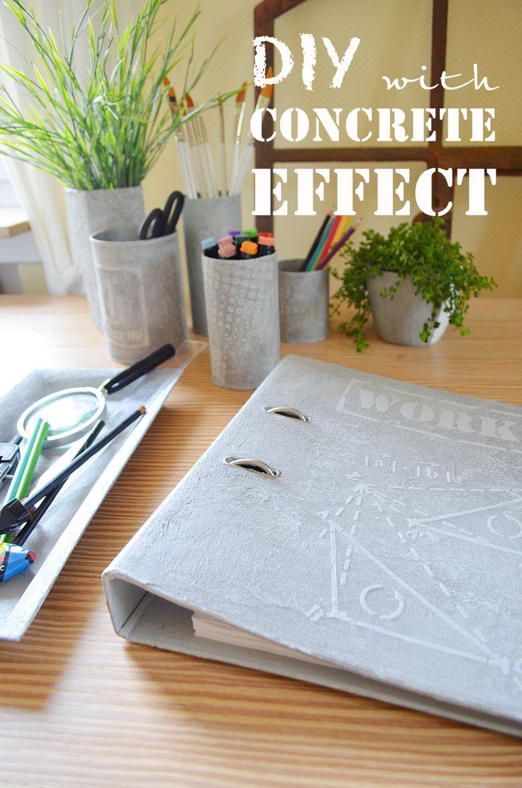 Schreibtischutensilien im #Industrial-Look. #DIY desk accessories in #industrial look http://www.viva-decor.de/index.php/de/neues-de/neuheiten-de/603-news-bep-schablonen.html