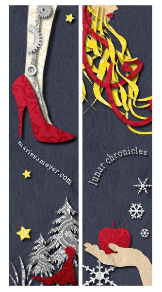 Both Sides of Bookmark Lunar Chronicles by Marissa Meyer Made by me.