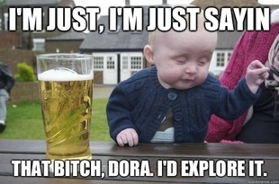 drunk baby lolBaby Quotes, Funny Pictures, Peek A Boos, Funnypictures, Funny Stuff, Kids, Funny Baby, Baby Humor, Drunk Baby Memes
