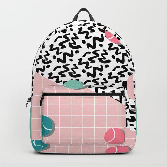 Tennis Pattern #society6 #decor #buyart Backpacks