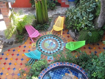 Amazing Mosaic Patio By Carlos Adds Life To To The Already Verdant Patio