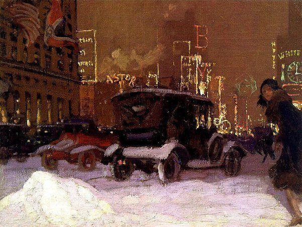 Чарльз Хофбауер Зимний вечер на Таймс Сквер 1927  Charles Hoffbauer (1875-1957) Wintery Evening In Times Square 1927  Признавайтесь когда-нибудь вы задумывались о том что неплохо бы оказаться в 20-х годах где-нибудь в Америке вдохнуть ароматы эпохи Великого Гетсби оказаться на сумасшедшей вечеринке в период сухого закона и посмотреть как строились небоскребы? Я -да. Я просто обожаю эту эпоху. И впередистолько открытий и возможностей чистый лист изобретай что хочешь.  Поделитесь вашей любимой…