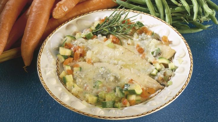 Rombo al vapore con salsa al gorgonzola