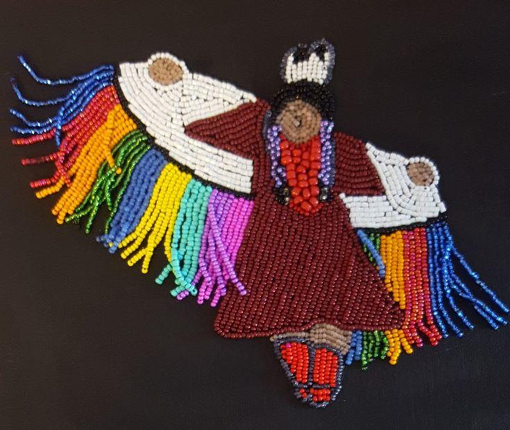 Shawl dancer #native #bead art