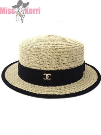 Шляпа канотье Chanel
