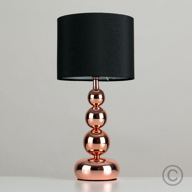 This Modern Touch Table Lamp With Copper Base Is Ideal For Use In The Living Room All Iconic Lights Orders Come FREE DELIVERY