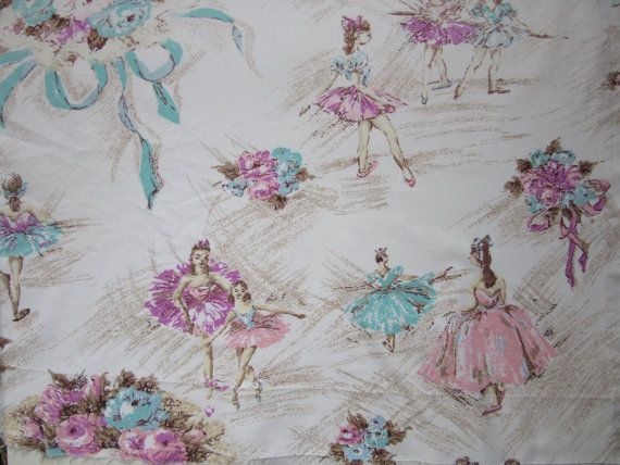 2 pieces Ballerina fabric / Degas Ballerinas / by LuLusFrouFrou