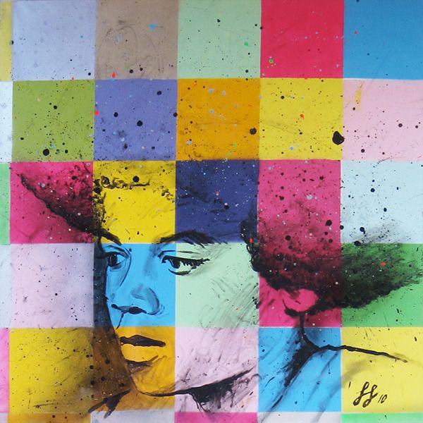 'Michael Jackson' · 120x120cm · acrylic on canvas · © Sander Van Stijn · 2013