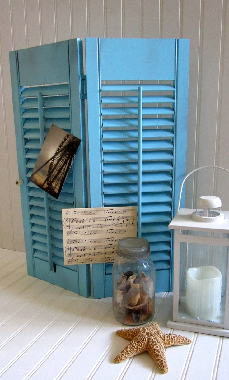 1000 images about window shutters interior design on pinterest dresser drawer knobs mail for Decorative interior wall shutters