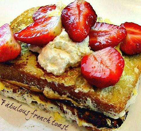A filling, absolutely mouth watering Fabulous French Toast.: Fabulous French, Food Stuff, Breakfast Time, Brunch Breakfast, French Toast, Absolutely Mouths, Better Breakfast, Breakfast Recipes, Breakfast Brunch