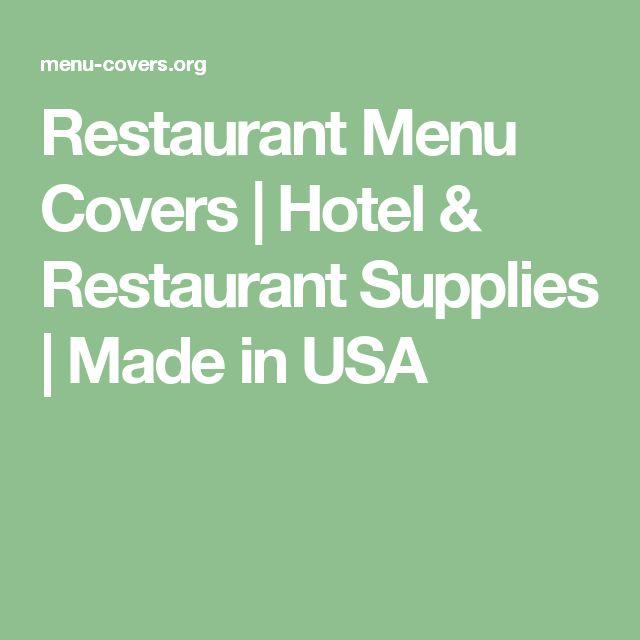 Restaurant Menu Covers | Hotel & Restaurant Supplies | Made in USA