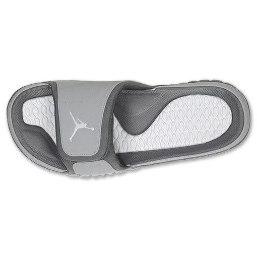8194829df86 Grey And Red Jordan Slides