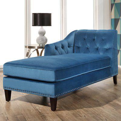 Meera Velvet Chaise Lounge Upholstery: Teal - http://delanico.com/chaise-lounges/meera-velvet-chaise-lounge-upholstery-teal-695405234/