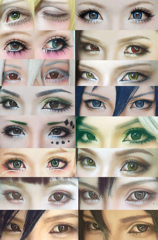Cosplay eyes make up collection #4 by mollyeberwein.deviantart.com on @deviantART