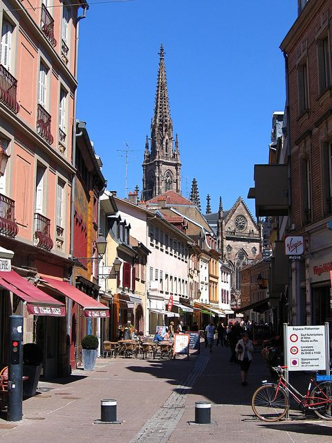 Walking and shopping in this quiet city :) Mulhouse, Alsace, France