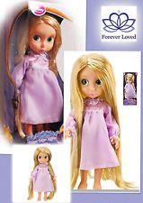 Disney Rapunzel Primera Edición animador Muñeca tinsel/glitter hair/night Vestido Caja