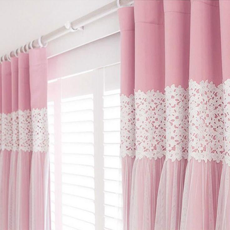 2XCustom Kids Girl Princess Solid Pink Blockout Blackout Curtain Shabby  Chic | EBay