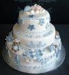 Achterkant geboorte taart Valentino.