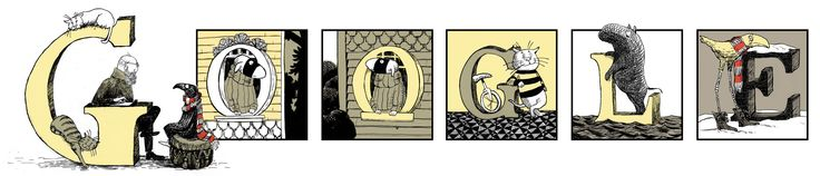 Edward Gorey's 88th Birthday [88 лет со дня рождения Эдварда Гори] /This doodle was shown: 22.02.2013 /This is global doodle. It was shown for all countries