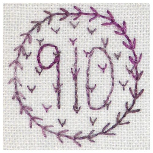 910 Viola - Backstitch & fly stitch.