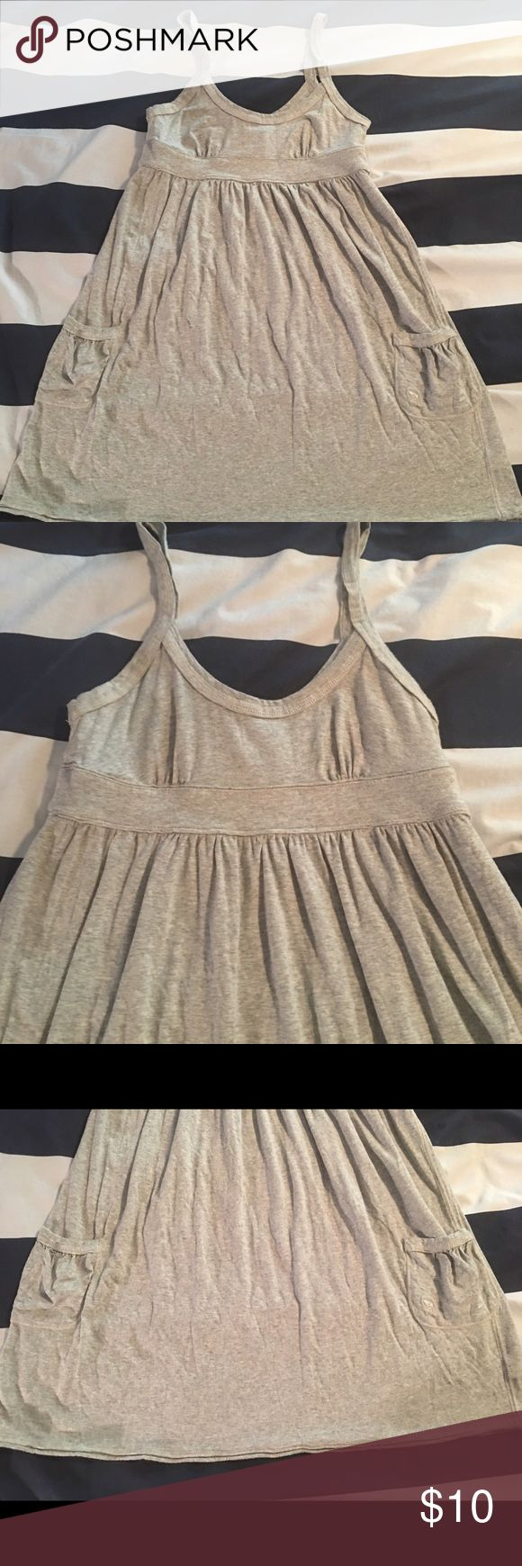 Abercrombie and Fitch tank dress Adorable with leggings and Uggs. Two pockets in excellent condition Abercrombie & Fitch Dresses Mini