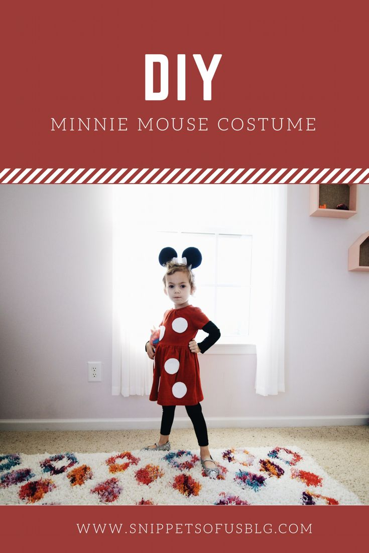 DIY Minnie Mouse costume. Toddler Minnie Mouse costume. Toddler Halloween