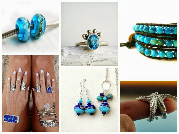 Maya-Honey Lampwork: Silver and Blue - always in trend! Etsy finds, Jewelry trends