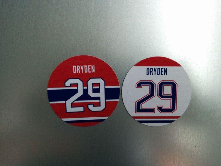 Ken Dryden Magnet | Jersey Design | Round Fridge Magnet | Montreal Canadiens #29 #MontrealCanadiens #KenDryden