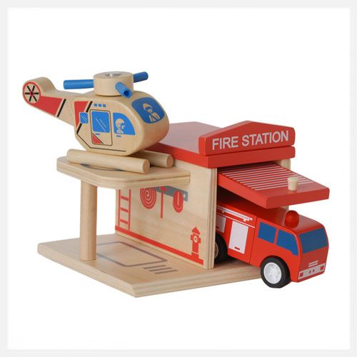 Click Clack Toys - Eco Friendly Fire Station