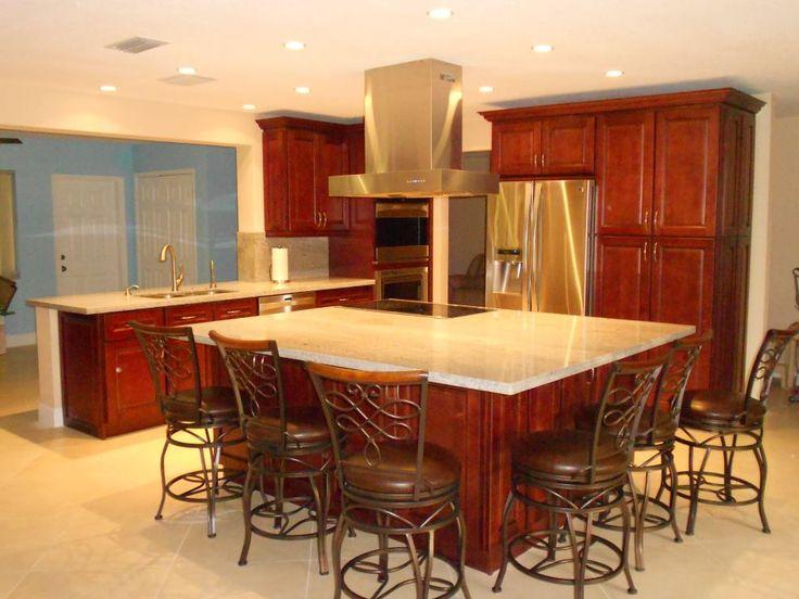 14 Wonderful Large Kitchen Island Design Ideas