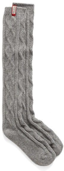 Hunter Original Cable Knit Knee Socks