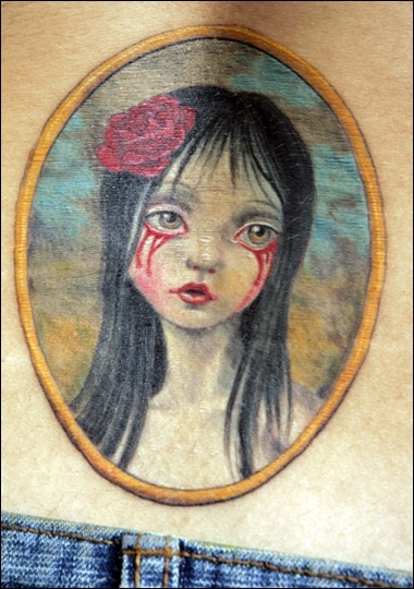Mark Ryden art, tattooed by Chris Garver