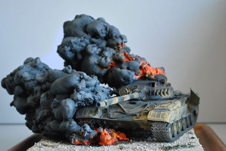 T-72 Burning 1/35 Scale Model