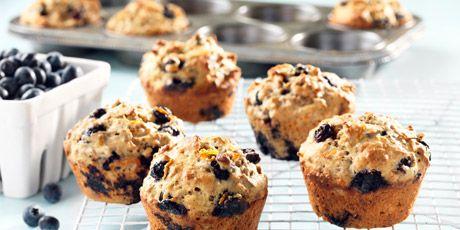 Blueberry Orange Yogurt Bran Muffins