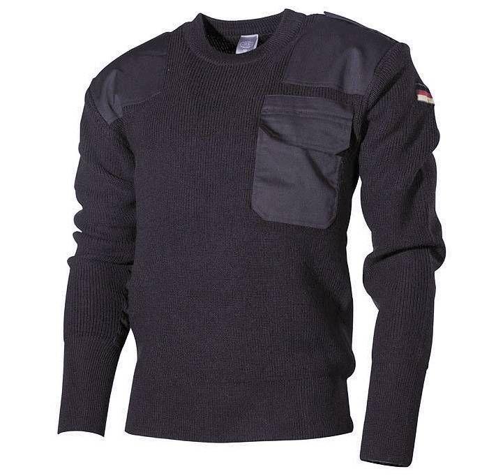 MFH BW Pullover, schwarz / mehr Infos auf: www.Guntia-Militaria-Shop.de