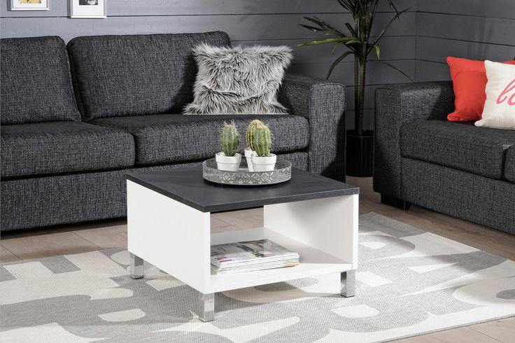 MONACO-sohvapöytä 60x60cm valkoinen/musta woodline - Sohvapöydät | Sotka.fi