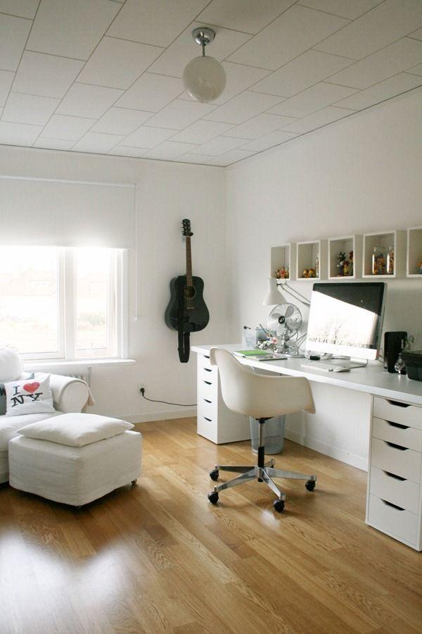 i like the all white - spare room?