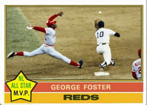 1976 Topps George Foster All Star MVP, Cincinnati Reds, Baseball Cards That Never Were