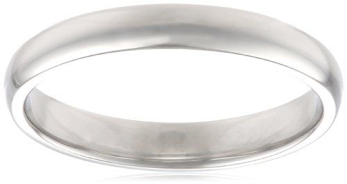 Women's Platinum 3mm Traditional Plain Wedding Band - I LOVE plain wedding bands, the bling is for the engagement ring!