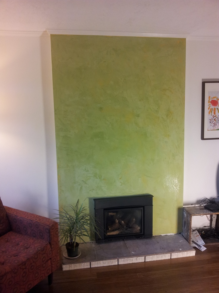 Stucco Italiano Classic Lime Plaster Venetian Lime Plaster In An Avocado Green Makes This