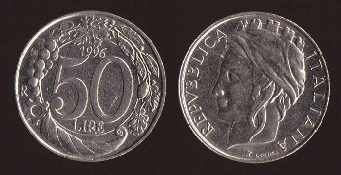 Valore Moneta 50 Lire Monete Monet Vecchie Monete