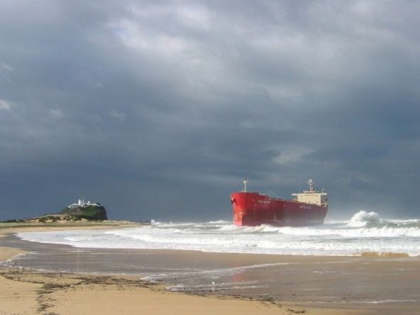 The Pasha Bulker ran aground near Newcastle in 2007 during an East Coast Low.