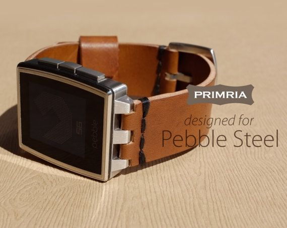 This PRIMRIA - PS, leather watchband is special designed only for Pebble Steel watch, giving a new premium feel to your Pebble Steel. Each band is