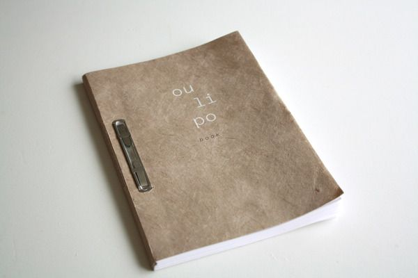 Oulipo Book by Elizabeth Laferrière, via Behance