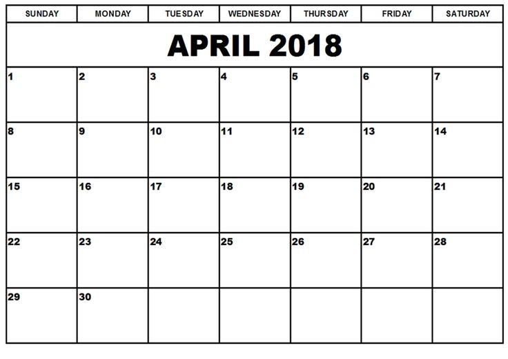 2018 April Calendar Printable with Holidays    https://sourcecalendar.com/april-2018-calendar