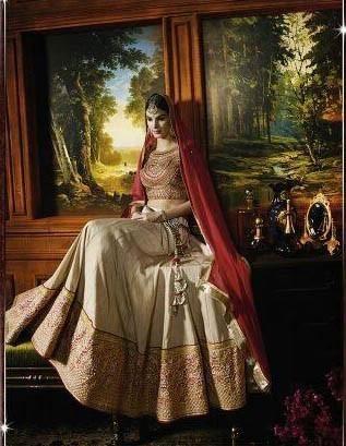 Modern Beige Designer Lehengas Online Shopping ,Indian Dresses - 2