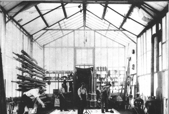 Georges Méliès glass walled studio