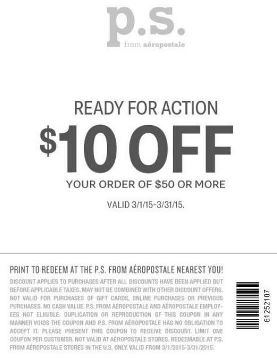Aéropostale Printable Coupons