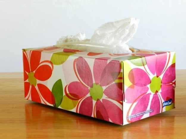 Keep a tissue box full of plastic bags handy for wet swimsuits or muddy shoes.