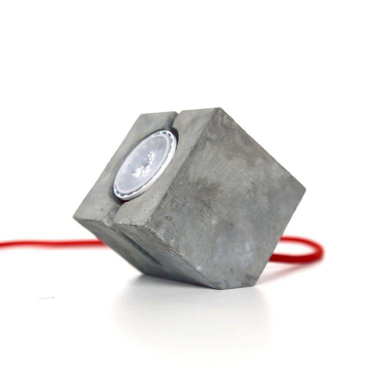 Luminaria CUBO [   ] concreto claro